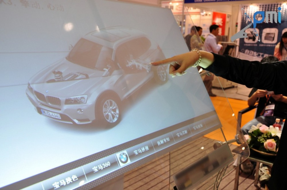 On sale! Interactive 10 points usb multi touch foil film through glass, 21.5 inch 16:9 format for touch kiosk, table etc