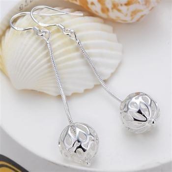 Free Shipping 925 Sterling Silver Earrings,Lob snake chain earrings,925 Sterling Silver Earrings wholesale jewelry E089