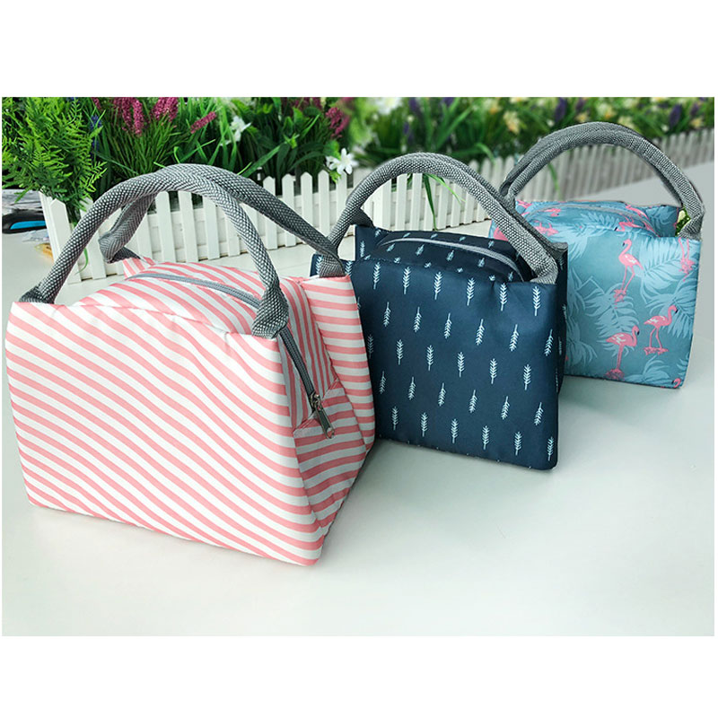2018 Lady Aluminum Food Cool Bag FIve Colors Chosen Oxford Thermal Insulation Food Cooler Bags