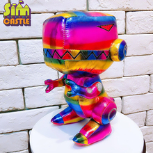 SIMCASTLE Original Dinosaur Plush Toy Colorful Fluorescent Rainbow Funny Animal Cotton Boutique Toys for Children Birthday Gift