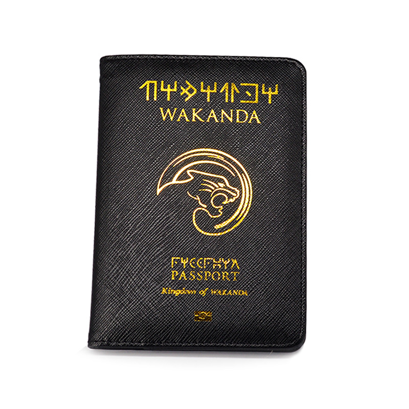Wakanda Passport Cover Marvel Black Panther Passport Case Travel Cover The Passport Asgard Passport Holder Drop Shipping