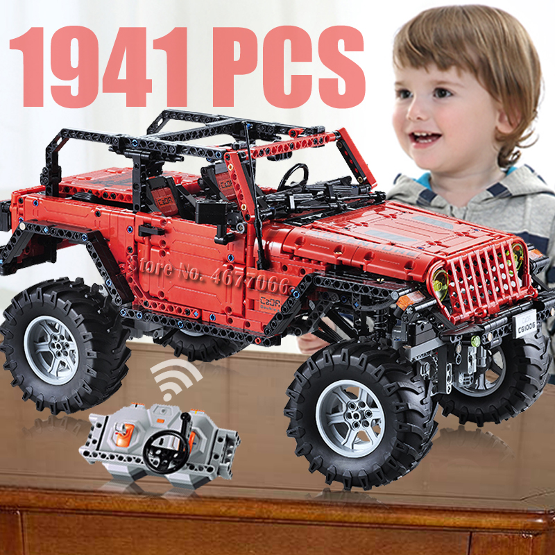 cada RC Off Road Car Adventurer Technic Building Blocks Remote Control Car bricks blocktoy kids Toys