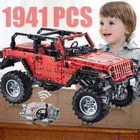 RC Off Road Car Adventurer Technic Building Blocks Remote Control Car kids Toys for children boys