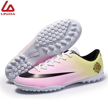 2019 Professionl Football Shoes Light Weight TF Comfortable Soccer Shoes Outdoor Training Sneakers Adults Sport Football Cleats original new arrival nike men s hypervenom phelon ii tf light comfortable football soccer shoes sneakers