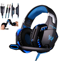 Melhor PC Gamer casque EACH G2000 Gaming Fones de Ouvido Estéreo de Alta Fidelidade Com Microfone Luzes Deslumbrar Brilho Jogo de Música fones de Ouvido Fone de Ouvido