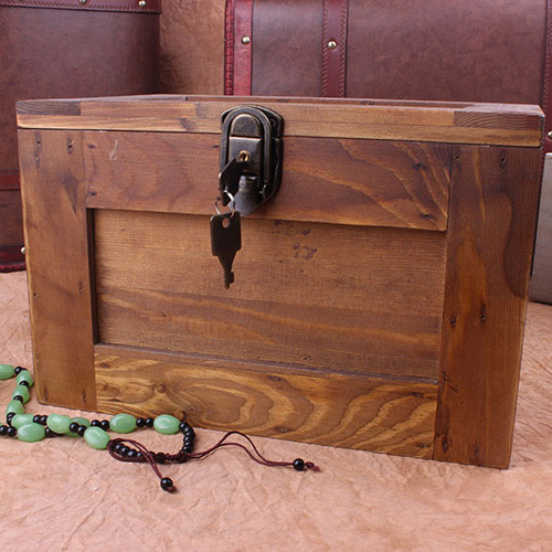 Do The Old Grocery Retro Wood Antique Wooden Storage Box With Lock Large  Wooden Storage Secret Documents Cosmetic In Bottles, Jars U0026 Boxes From Home  ...