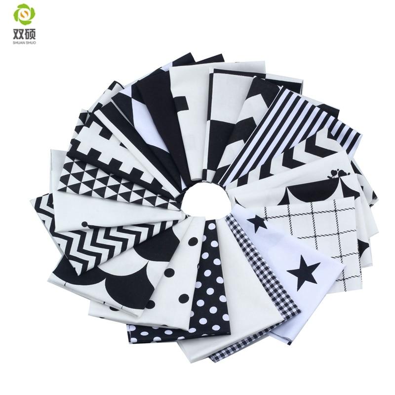Nueva Tela de Algodón de Color Negro Tissus Telas Tejidos Patchwork - Artes, artesanía y costura