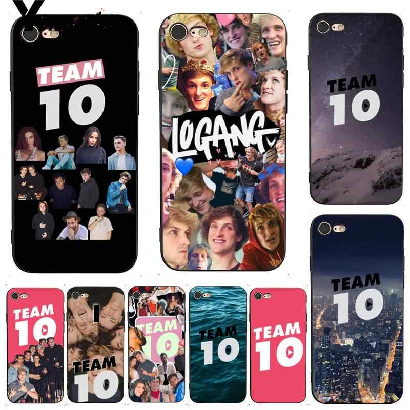 Jake Paul team 10 collage iphone case