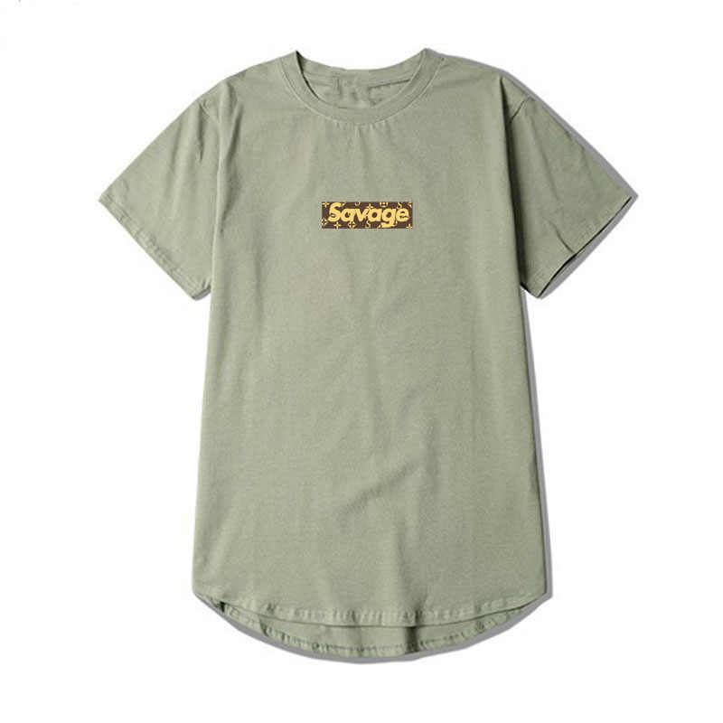 b2100ac9bf4 ... High Street Fashion T-Shirt Men Women Savage Box Logo T Shirt Oversize  Cotton Short ...