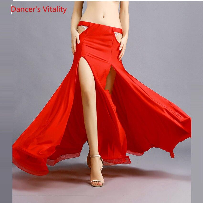 New Sexy Slits Skirt Women Belly Dance Skirt Women Professional Belly Dance Costume Skirt Dress