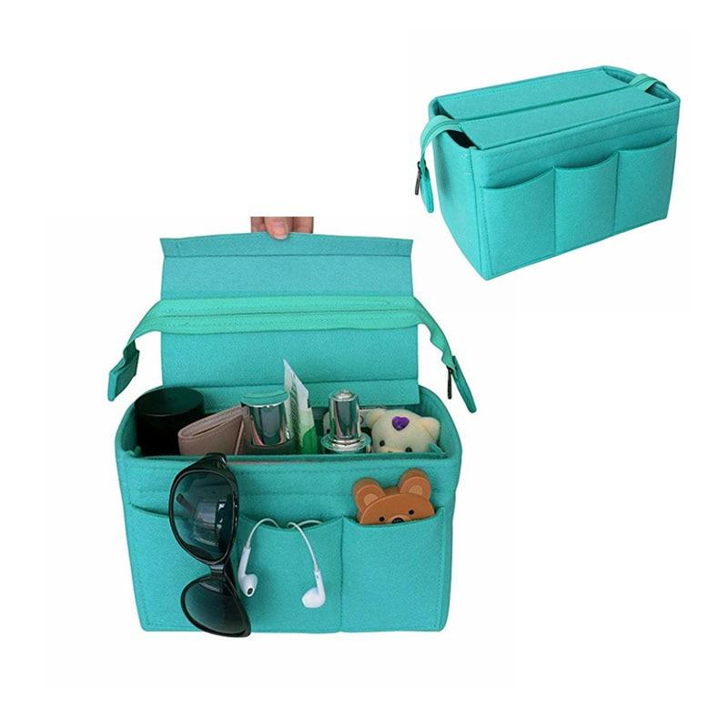 HHYUKIMI Felt Bag Organizer  Felt Insert Bag For Handbag Travel Inner Purse Portable Make Up Bags Fit Speedy Neverfull