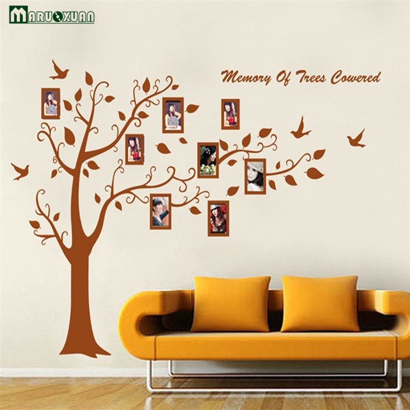 Maruoxuan extra large 180 300cm brown 3d diy photo tree for Diy photographic mural