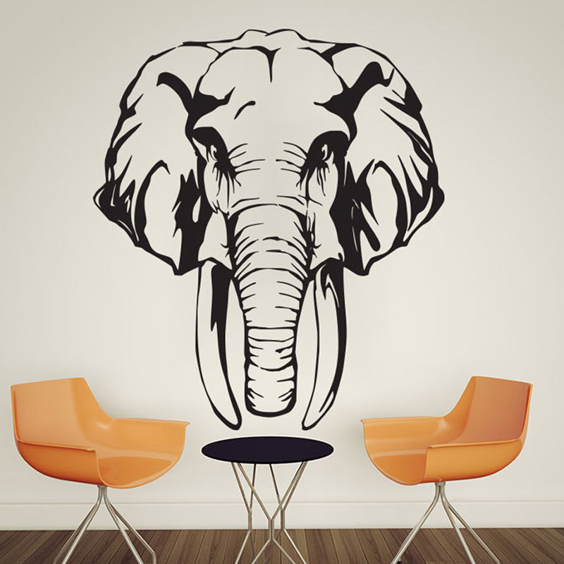 African Animal Elephant Wall Stickers Nursery Removable Vinyl Animals Home Decor Wall Decals For Children
