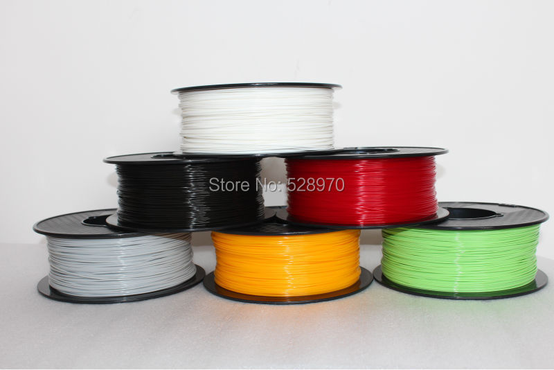 Prix pour Vente chaude Pleine Couleur En Option 3d imprimante filament haute qualité PLA/ABS 1.75mm/3mm 1 kg/bobine pour MakerBot/RepRap/kossel/Createbot