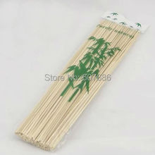 2000 Pieces 30*0.3cm Natural Bamboo Skewers Sticks BBQ Barbeque Fruit Kabob Kebab Fondue Grilling Stick Skewer Free Shipping