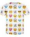 Смайлики Футболки покрыты в iOS улыбающиеся лица алмазы и сердца 3d смешные футболки летняя мода топы tee