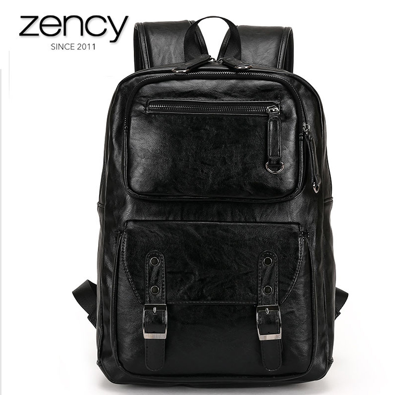 ФОТО 2017 New Arrival Korean Style Men Backpack Top Quality Split Leather Bags School Bag Book Rucksack for Male Travel Tote Bagpacks