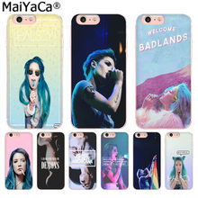 MaiYaCa Halsey Colors paroles housse de téléphone de luxe pour Apple iphone 11 pro 8 7 66S Plus X 5S SE XR XS XS MAX Cover(China)