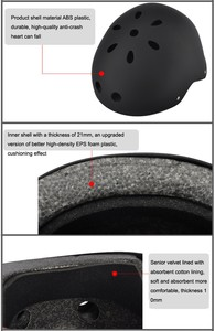 Image 4 - Round Mountain Helmet For Ninebot Hovershoes Electric Scooter Skateboard Xiaomi M365 Bird Ninebot Kickscooter Cycling Helmet