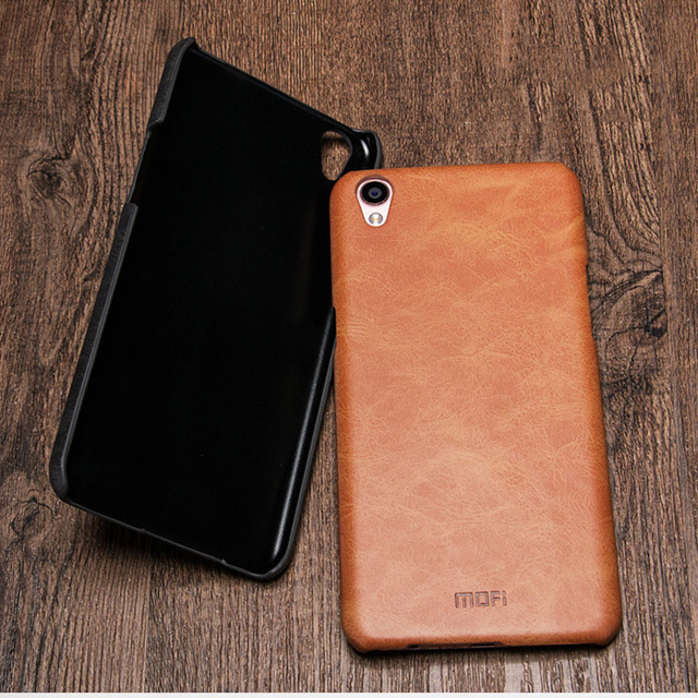 the best attitude a8230 18dc2 US $9.99 |OPPO F1 plus back cover MOFi original oppo f1 plus mobile case r9  case leather case hard housing business pure pink brown 5.5