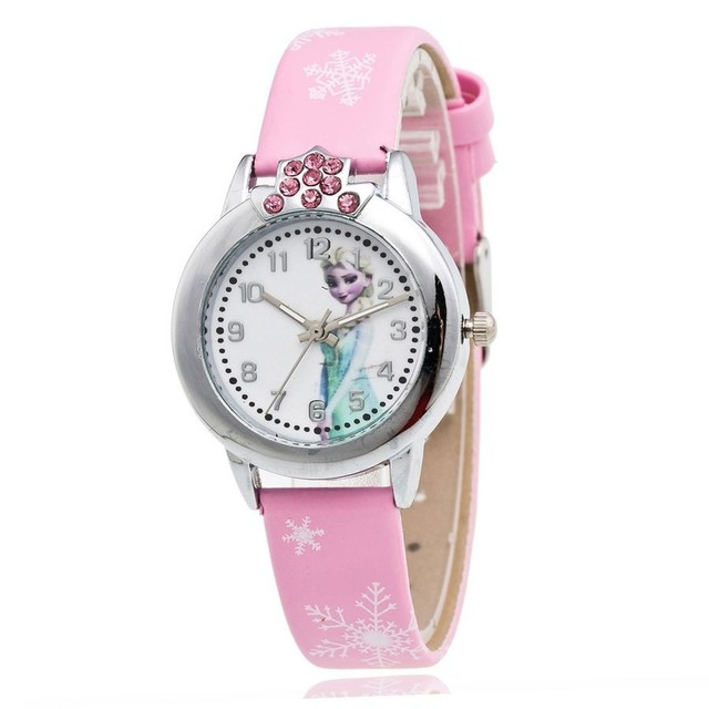 Cartoon Fashion Princess Elsa Anna Children Analog Watches