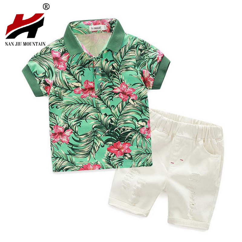 2017 kids clothing set baby boy cotton t shirt short pants children set for summer boy cartoon clothes fits 3 colors 3-8 years summer baby boy clothes set cotton short sleeved mickey t shirt striped pants 2pcs newborn baby girl clothing set sport suits
