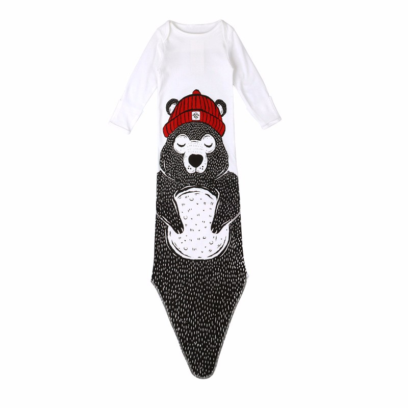Cotton Baby Sleeping Bag Cartoon Warm Air Bed Penguins Sleeping Bags Shark Boy Girl Bag Mermaids Blanket  Bears Infant Clothing (27)