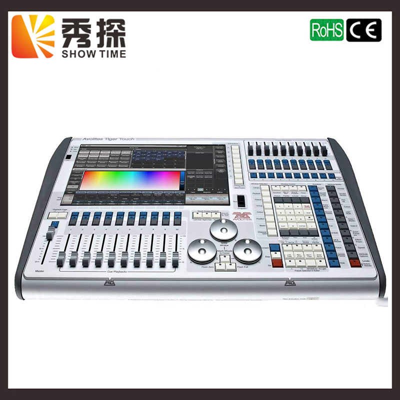 SHOW TIME Tiger Touch DMX Controller Stage light DMX console for XLR-3 led par beam moving head DJ light stage effect light new stage light controller 192ch dmx512 controller for stage dj equipment in led par moving head beam christmas laser projector