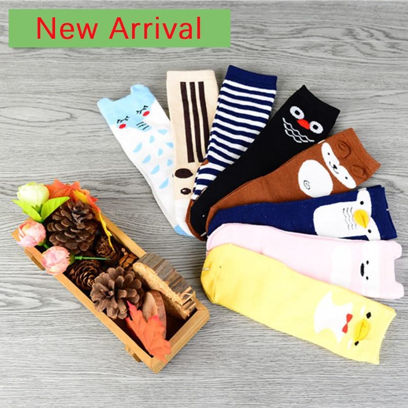 8parji Novi prihod Živalski bombaž Protizdrsne otroške nogavice - Oblačila za dojenčke