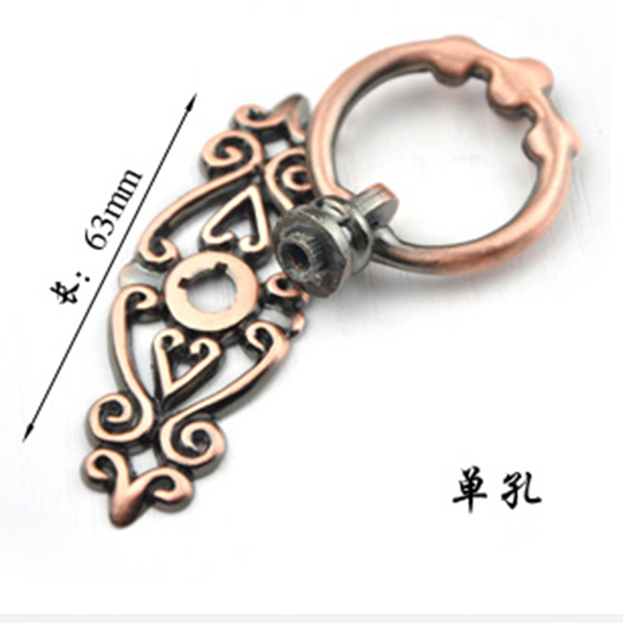 red bronze leaf handles pull small pulls archaize puckering circle drawer knob kitchen handles decorative drawer - Decorative Drawer Knobs