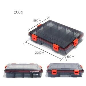 Image 4 - Minnows несколько отсеков аксессуары для рыболовных приманок Коробка Приманка рыболовный контейнер для снастей пластиковый держатель для хранения квадратный чехол