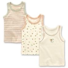 export quality boy cotton vest 3pcs pack hurdles vest bottoming breathable thin super soft sweat uptake