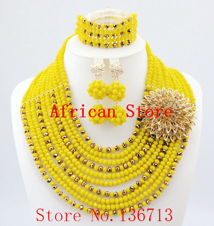 New year big sale! Classic Orange red blue Nigerian/african beads jewelry set sets in wedding party dinner dress for women L171