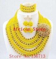 Yeni yıl büyük satış! Klasik Turuncu kırmızı mavi Nijeryalı/afrika boncuk takı seti setleri kadınlar için düğün yemeği elbise içinde L171