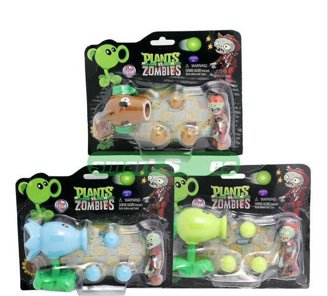 Free shipping! PVZ Plant vs zombi 2 PVC Action Figures Anime Collection model toys Pea shooter Gifts 10cm Plants vs zombies hot sale 26cm anime shanks one piece action figures anime pvc brinquedos collection figures toys with retail box free shipping