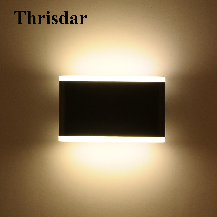 Thrisdar 10W Up Down Outdoor LED Wall Light Waterproof IP54 Garden Porch Wall Light Balcony Corridor Aisle Villa Porch Lamps thrisdar 20w ip65 waterproof wall lamps 40leds outdoor garden porch wall sconce lamp corridor garden hotel pathway porch light
