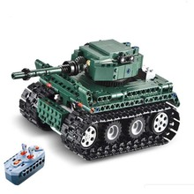 313pcs Legoings Remote Control Rc German Tiger Tank Military Technic Building Block Toys