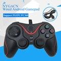 NYGACN NJP303 wired gamepad para PS3/PC/PC360 controlador de juegos Android dual manija del juego del choque joystick dualshock Freeshipping