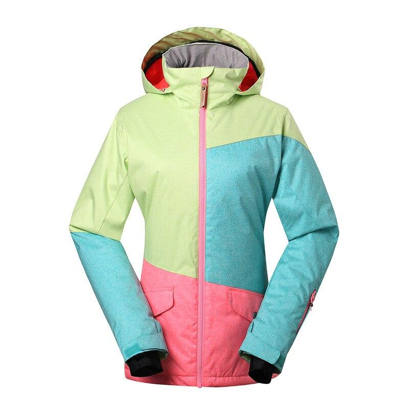 GSOU NEIGE Femmes combinaison de Ski Unique Double Conseil de Ski En Plein Air D'hiver Coupe-Vent Chaud et Imperméable Veste de Ski Manteau Pour Les Femmes