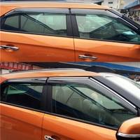 For Hyundai Creta Ix25 Window Visor Side Window Deflectors Cover ABS Exterior Body Decoration Products Accessories