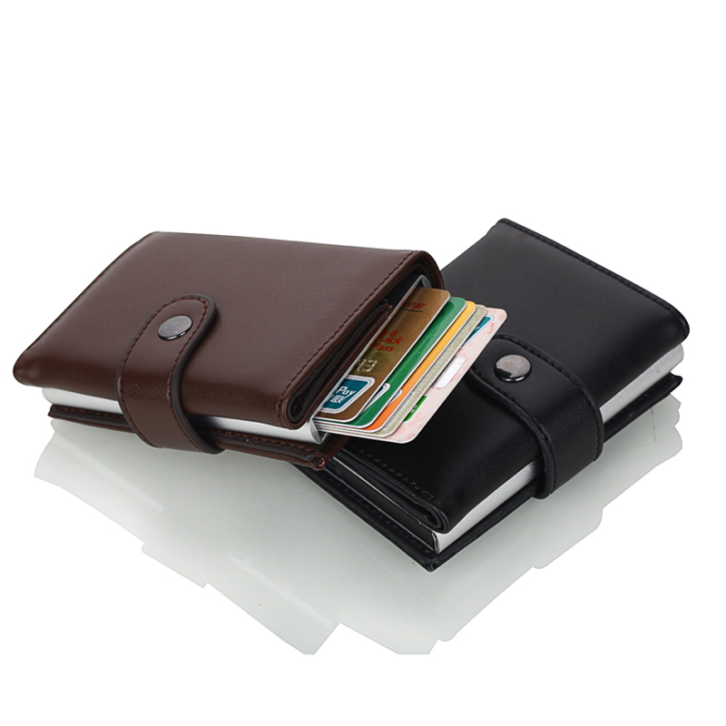 Image 3 - Weduoduo 2019 High Quality PU Leather Credit Card Holder RFID Card Holder RFID New Design Bank Card Cases Business Card Pocket-in Card & ID Holders from Luggage & Bags