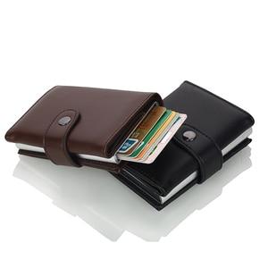 Image 3 - Weduoduo 2019 גבוהה באיכות עור מפוצל אשראי כרטיס בעל Rfid כרטיס מחזיק Rfid חדש עיצוב בנק כרטיס עסקי מקרי כרטיס כיס