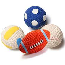 New Rubber Pet Toys Tennis Volleyball Football Soccer Shape for Dog Chewing Training Toy Cleaning Tooth Supplies Accessories