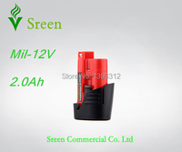 Nieuwe 12 V Oplaadbare Lithium Ion 2000 mAh Power Tool Batterij Packs Vervanging voor Milwaukee M12 XC M12IR M12JS
