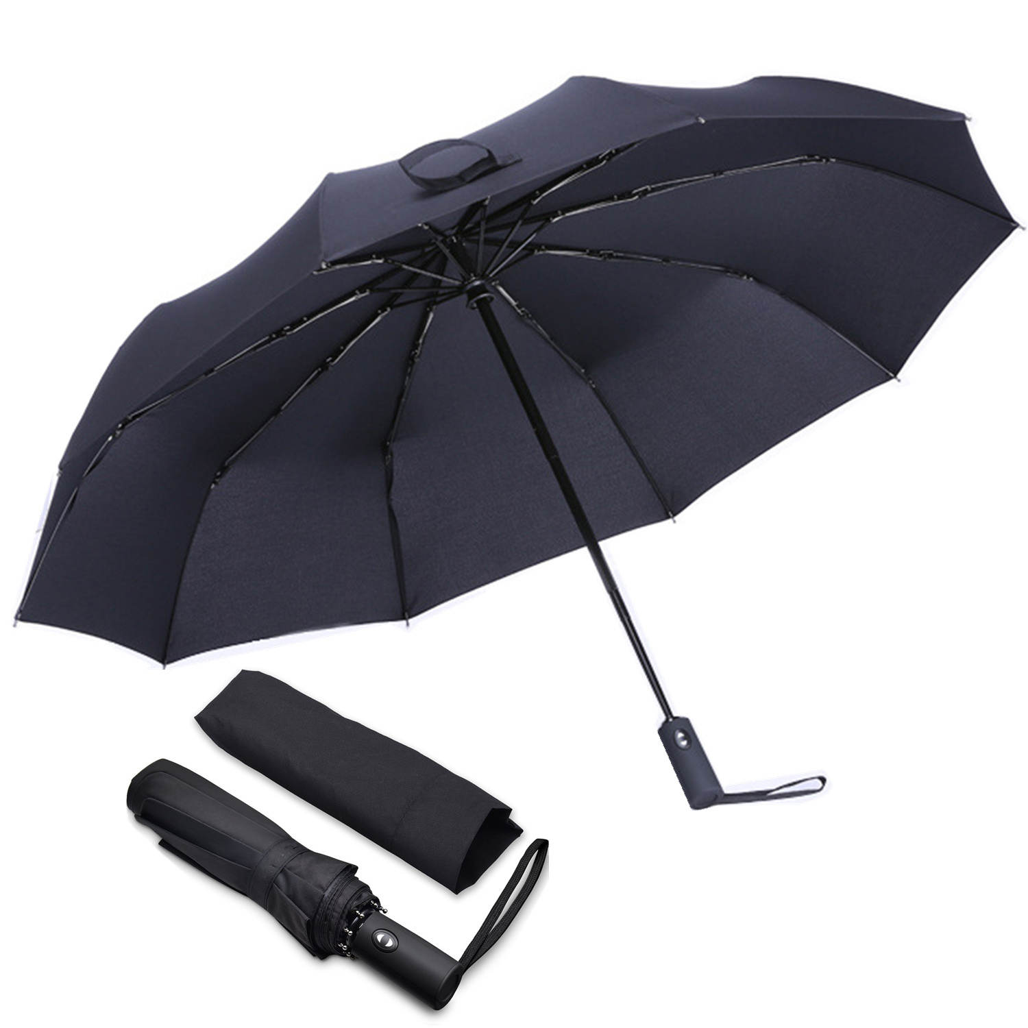 YOOAP Folding Umbrella Windproof Automatic Umbrella Stable Compact And Durable Lightweight Ergonomic Handle Adult