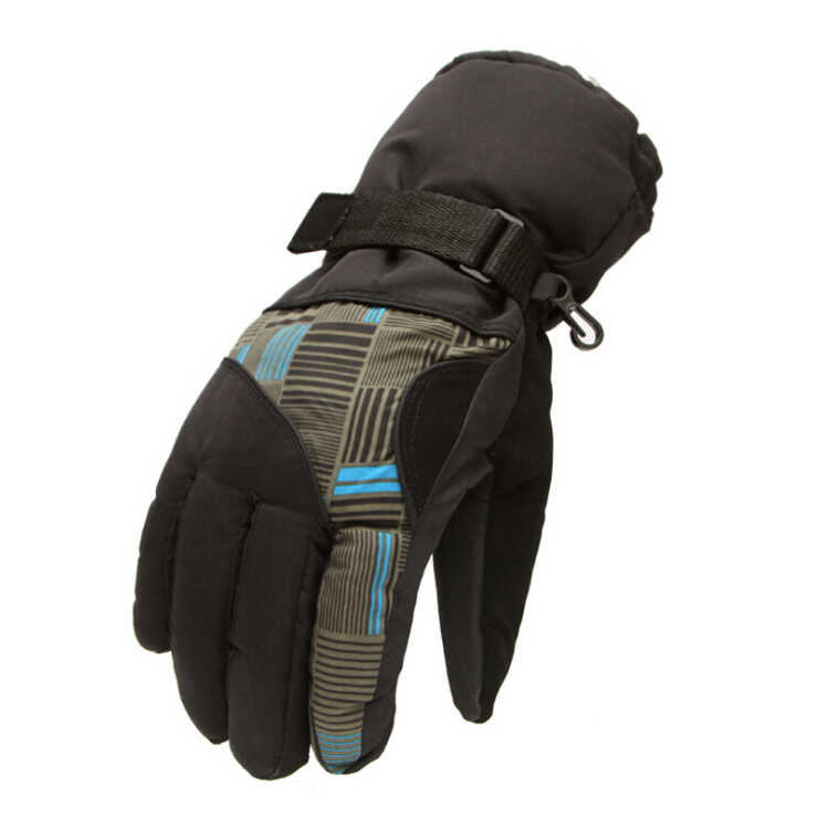 New Sale Winter Man Outdoor Sports Waterproof Thickening Climbing Skiing Gloves (Blue and black)