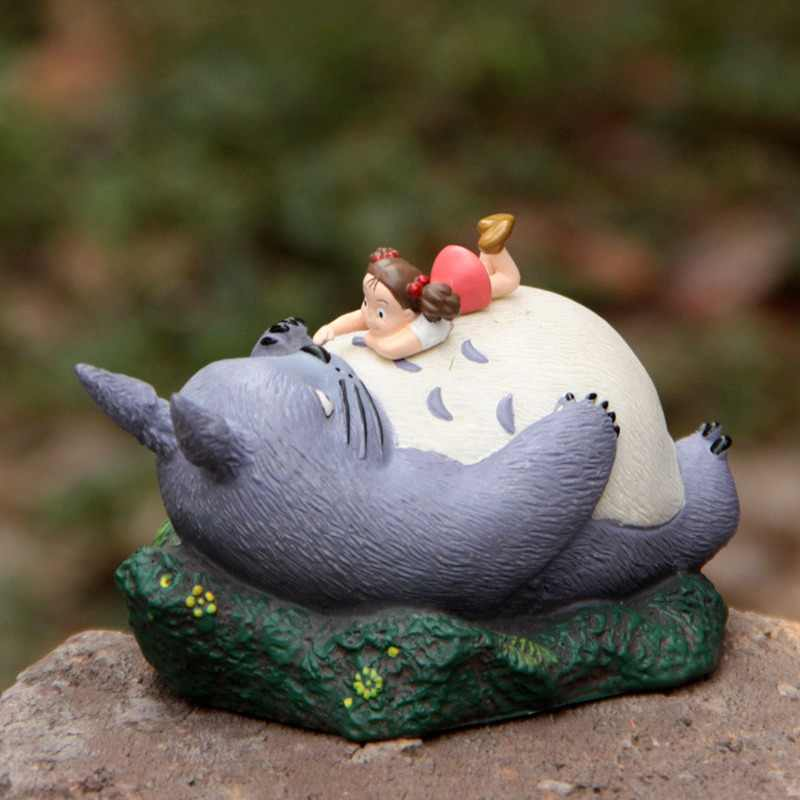 Large Resin Hayao Miyazaki Totoro Cartoon Figurines Flower Pot Ornaments Fairy Potted Garden Moss Gnome Decoration Miniatures