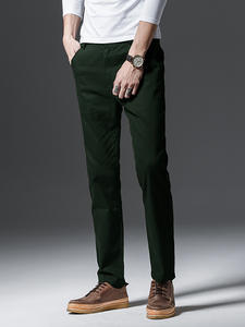 Casual Pants Trousers Winter Men's Corduroy Cotton Fashion New And Autumn Business Embroidery