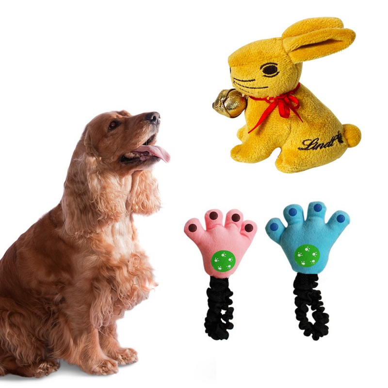 Funny Rabbit Plush Toys Large Dogs Squeaky Pet Supplies Puppy Squeaker Throw Sound Toy W1