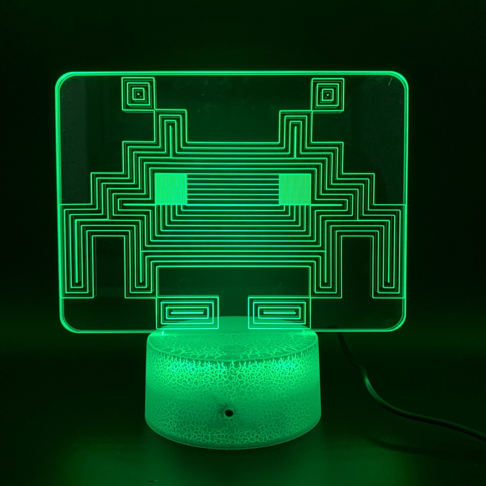 Game PAC MAN Led Night Light Birthday Gift for Kid Bedroom Home Decoration Baby Nightlight Touch Sensor Usb 3d Night Lamp Pacman in LED Night Lights from Lights Lighting